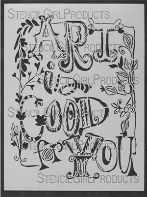 Art is Good for You Stencil by Joanne Sharpe
