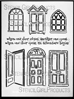 Doors and Windows Stencil by Jessica Sporn
