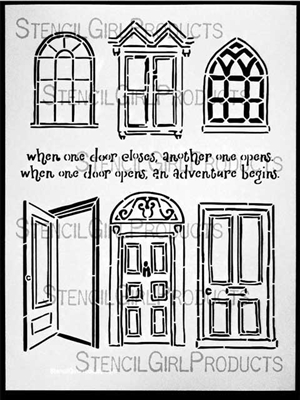 Doors and Windows Stencil