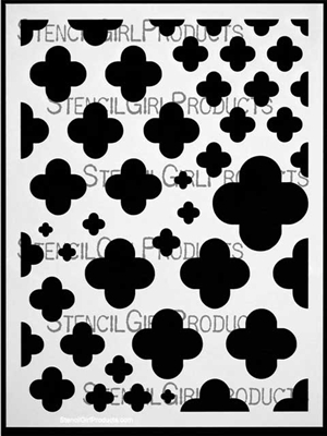 Quatrefoil Mix Stencil by Michelle Ward