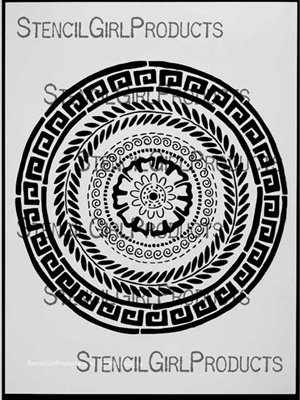 Stitch A Greek Medallion Stencil by Maria McGuire