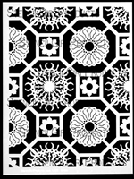 Flower Tiles Stencil by Mary Beth Shaw