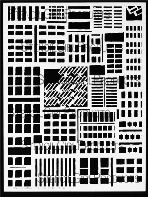 buildings stencil