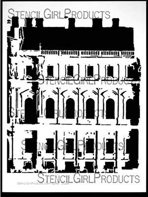 1700s Building Stencil by Carolyn Dube