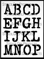 vintage typewriter alphabet stencil letters a to p carolyn dube