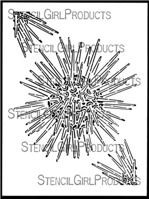 Sea Urchin Stencil by June Pfaff Daley