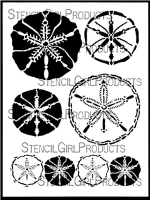 Sand Dollars Stencil by June Pfaff Daley