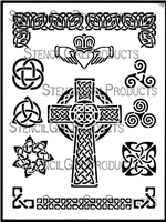 Celtic Celebration Stencil by June Pfaff Daley
