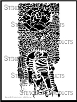 A Skeletal Plot Stencil by Orly Avineri