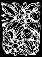 Floral 1 Stencil by Traci Bautista