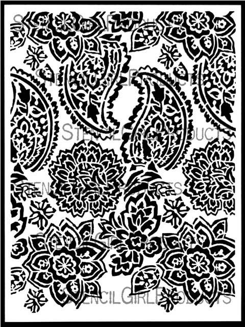 paisley floral repeat stencil jessica sporn