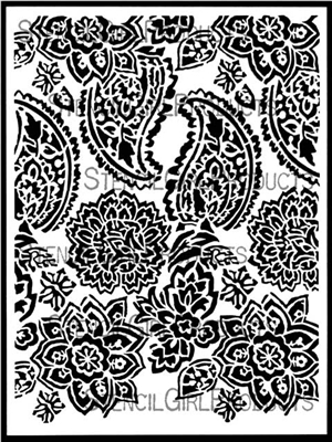 Paisley Floral Repeat Stencil by Jessica Sporn