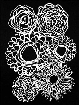 Deconstructed Floral Bouquet Stencil by Traci Bautista