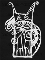 Scrappy Cat Stencil by Suzi Dennis