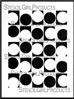 Alternating Circles Stencil by Carolyn Dube