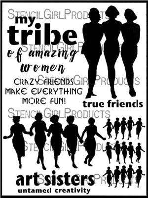 Finding Your Tribe Stencil by Carolyn Dube