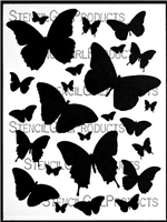 Butterfly Journeys Stencil by Carolyn Dube