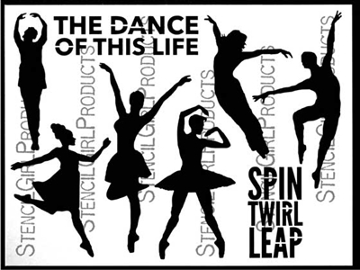 The Dance of This Life Stencil by Carolyn Dube