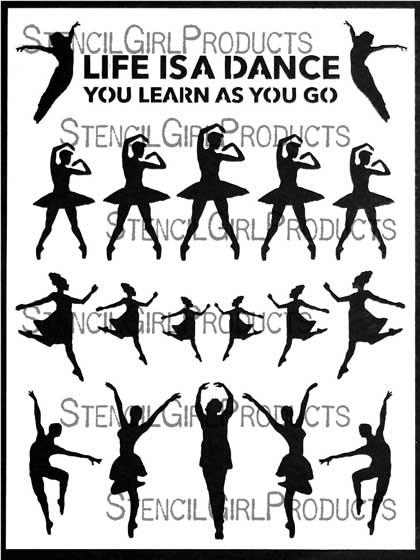 learning to dance stencil carolyn dube stencilgirl products Gibney Dance Studio learning to dance stencil by carolyn dube