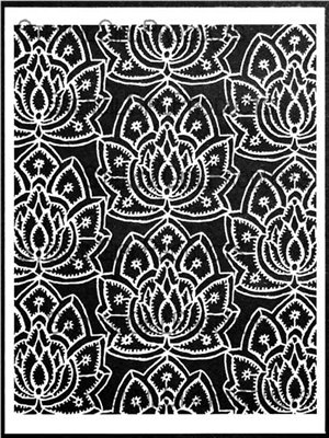 Lacy Lotus Repeat Stencil by Jessica Sporn