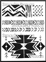 Kilim Patterns Stencil by Cathy Nichols