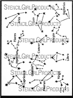 What's Your Sign - Zodiac Constellations Stencil by Cathy Nichols