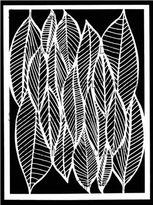 Clustered Leaves Stencil by Cecilia Swatton