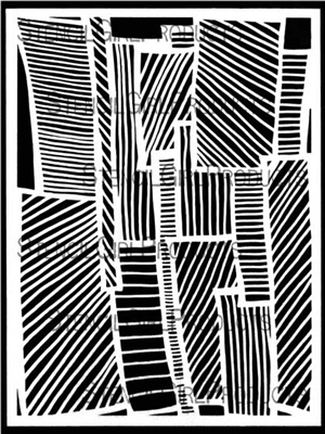 Loopy Ladders Stencil by Cecilia Swatton
