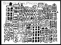 City Buildings Stencil by Andrew Borloz
