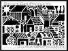 Rural Buildings Stencil by Andrew Borloz