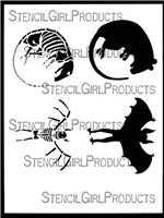 Rat and Bat Stencil by Roxanne Coble