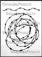 Barb Wire Stencil Mary Beth Shaw