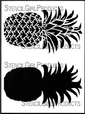 Pineapple Stencil by June Pfaff Daley