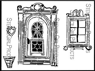 Edelweiss Door and Window Stencil by Angela Cartwright