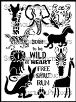 Born to be Wild Animals Stencil by Jessica Sporn