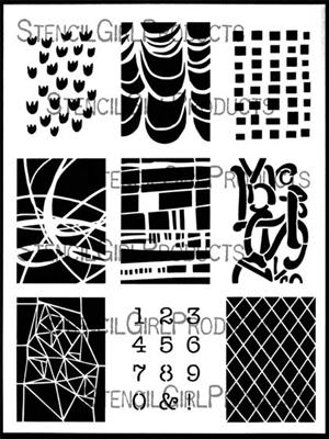 StencilGirl - ATC Mixup #2