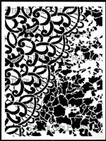 Lace and Patina Stencil by Jane LaFazio