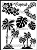 Tropical Twist Stencil by June Pfaff Daley