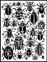 Scarab Beetles Stencil by Margaret Peot