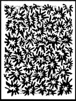 Woodcut Blossoms Background Stencil by Margaret Peot