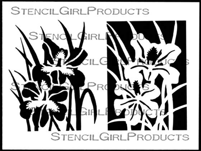 Iris Collection Stencil by Cynthia Silveri