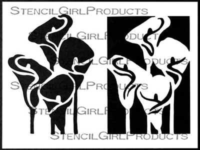 Calla Lilies Collection Stencil by Cynthia Silveri