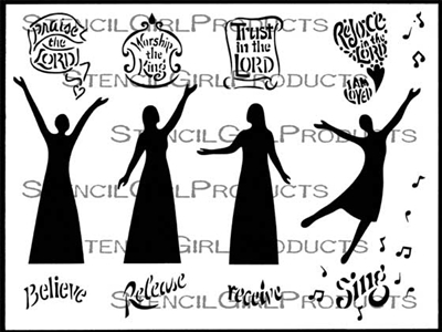 Bible Journaling Figures Stencil by Valerie Sjodin