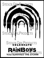 Painted Rainbows - Large Stencil by Carolyn Dube
