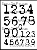 Vintage Typewriter Numbers Stencil by Carolyn Dube