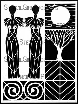 Sacred Feminine Stencil by Carol Wiebe