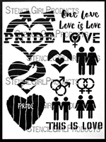 Love is Love Stencil by Jessica Sporn