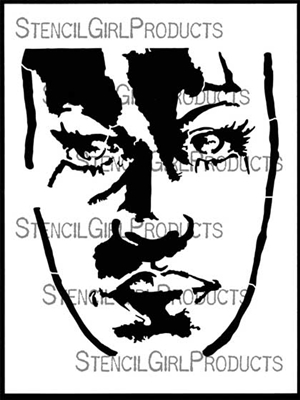 Face It Large Stencil by Karen Johnson