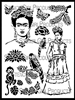 Inspired by Frida Stencil by June Pfaff Daley