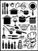 Cooking Stencil by June Pfaff Daley